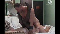Homemade porn - anal sex - deep blowjob - porn at home - Milana gets anal and oral fucked to orgasm from a member of muscul man Andrey Bulatkin