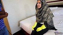 """Hijab Room Service"" فتاة مراهقة عربية Shy 18yo Arab teen maid brings extra pillows and gets stuffed with big black cock. Hardcore taboo arab teen interracial fucking on theshimmyshow episode 51 TRAILER ft Jasmine Angel"