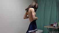 Japanese Schoolgirl Hina Nanase Undressing Her School Uniform