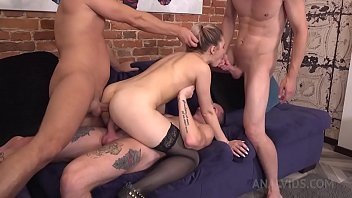 Double Penetration with Russian Teen Beauty Whiteneko ! DP 3on1 NRX042