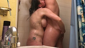 Anal Hot Milf Wife with Shower Rimjob - BunnieAndTheDude 16 min