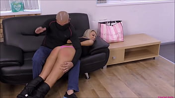 Hot blonde burglar babe gets Spanked | Tied-up   Pacifier-Gagged | Then strapped in a nappy (diaper) to really punish & humiliate her!