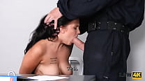 LAW4k. Graffiti girl is caught by b. Security officer who fuck her together
