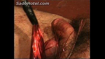 b. cock and balls of slave gets hurt by beautiful mistress