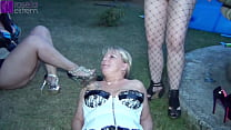Used dirty at a garden party by the female and male party guests! Part 1
