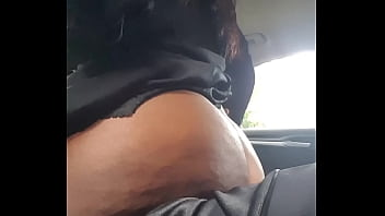 EBONY MILF RIDING MY COCK IN THE CAR AT WORK