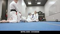 Karate Hotties (Olivia Grey) (Abigail Peach) (Bella Rolland) Share their instructors big cock - BFFS