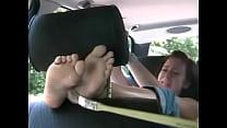 tickled in car