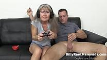 Video Gaming Granny Gets Big Dick-Leilani Lei
