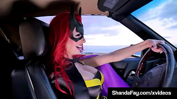 Crime Fighting Bat Girl Shanda Fay Sucks Your Hard Dick On The Road!