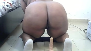 Sexy chubby girl rides Dildo part2
