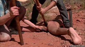 Captured hitchhiker anal fucked