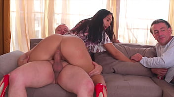 Cuckold, Watching the GF Takes a BIG Cock and Fucking 21 min