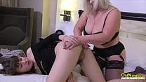 OLDNANNY British Mature Lacey Lesbian Desires