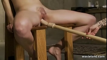 Sizzling Bondage Lesbian Fuck Fantasy For Kinky Blonde And Brunette Lovers