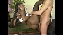 Hot Gorgeous Black Girl Fucked in the ass --- Matalana (European Babe) 6 min
