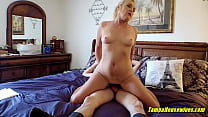This Virgin Has A Hot Blonde Cougar Show Him How to Fuck