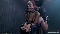 Ebony slave takes corporal punishment