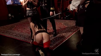 Alpha slave anal fucked at bdsm party