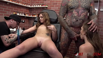 The White twins get tattoos then suck a big dick