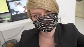 office slut jerks off and sucks dick to her boss