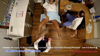 Ebony Cutie Jackie Banes Examined By Doctor Tampa & Doctor Rose At GirlsGoneGyno.com