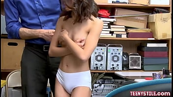 Brunette Asian Teen Shoplifter Agrees To Fuck With Officer 8 min