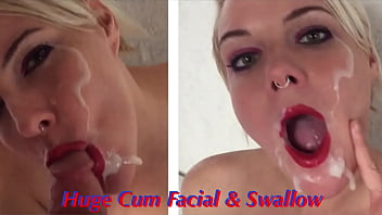 Amateur Model Gets Fucked Hard and Covered with a Big Cum Facial