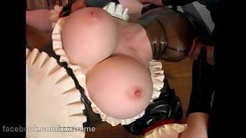 Hot Beautiful Mask Girl Huge Big Boobs --- Latex Lucy (European Babe) 56 sec
