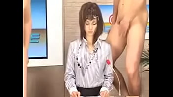 Maria Ozawa — Asian news anchor gets her face covered in cum & gets fucked while reporting the news | CMM Headline, bukkake news, Japanese bukkake, Asian bukkake