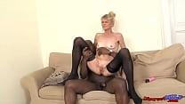Old with granny gets huge black cock deep inside