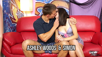 Porno starlet Ashley Woods and her boyfriend in their home video