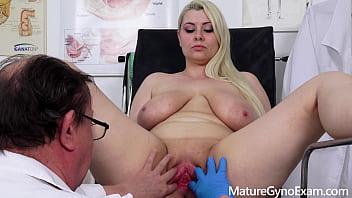 Chubby pornstar Alexa Bold examined by kinky doctor 6 min