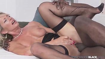 Private Black - Mature Busty Lady Mandy Bright Mounts A Big Black Cock