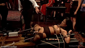 Asian slave machine and big cock fucked