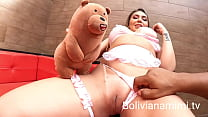 Look how my teddy askedLoupanto fuck me hard.. ans he also participated in the orgy  Full video on bolivianamimi.tv