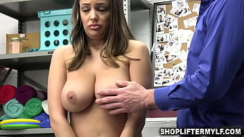 Sofi Ryan is a friend of the security officer and has a thing for her, so when he found a stolen item inside of her pussy, he makes a deal with her.