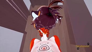 Furry Hentai 3D - POV Tigress blowjob and gets fucked by fox - Japanese manga anime yiff cartoon porn