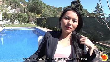 Cute slut Jill from Thailand meets Fino and gets a hard anal fucking