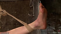 Blonde slaves whipped and toyed
