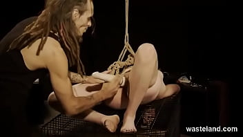 Sexy Blonde Teen Dominated With Ropes And Sex Toys