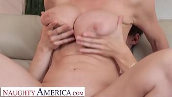 Naughty America - Blonde Milf Dee Williams fucks son's friend on couch 6 min