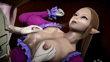 Futa - Princess Zelda gets creampied by Puppet Princess Zelda - 3D Porn