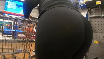 Mom At Walmart See Through Huge Booty Wedgie 5 min
