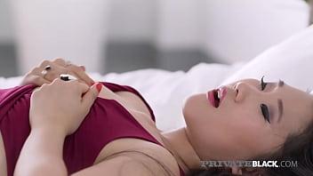PrivateBlack - Chocolate Chugging Asian Katana Loves Interracial Sex!