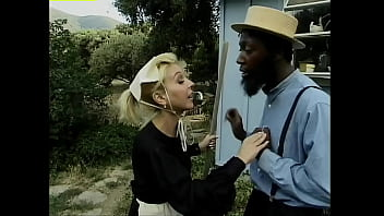 Homey In The Haystack #1 - Black cock fucks white women on an Amish farm