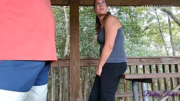 ALMOST CAUGHT fucking wife on public park bench - Becky Tailorxxx
