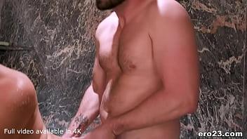Stirling Cooper joins Kasey Warner in the shower with hard dick