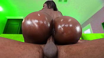 Black milf with a huge fake ass gets fucked hard - ebony hardcore porn