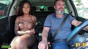 Carona do Ted Trans #003 com a mulata mais linda do Brasil - Sereia Mel